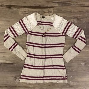 We The Free Size XS Long Sleeve Shirt with Lace